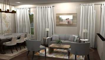 Online design Transitional Combined Living/Dining by Brittany J. thumbnail