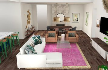 Online design Eclectic Combined Living/Dining by Tabitha M thumbnail