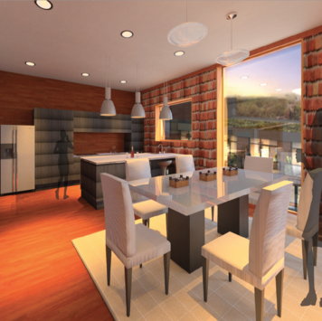 Online design Contemporary Dining Room by Elsabieth E. thumbnail