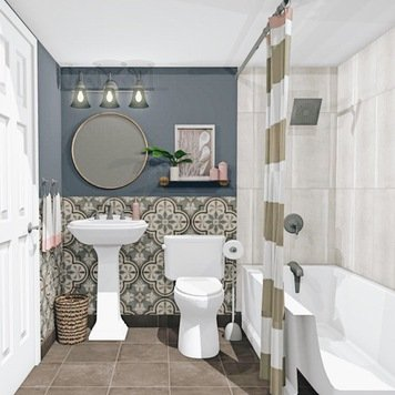Online design Eclectic Bathroom by Krystyna A. thumbnail