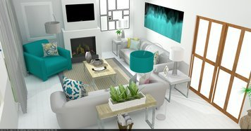 Online design Contemporary Living Room by Tamna E. thumbnail