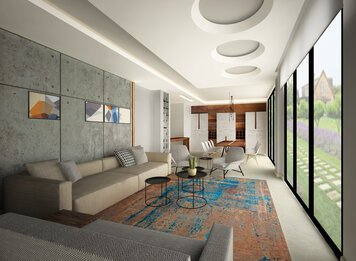 Online design Modern Combined Living/Dining by Lea S. thumbnail