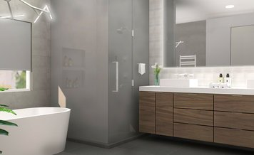 Online design Contemporary Bathroom by Ani K. thumbnail