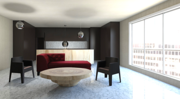 Online design Modern Combined Living/Dining by Jennifer S. thumbnail