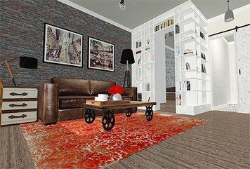 Online design Transitional Living Room by lila n. thumbnail
