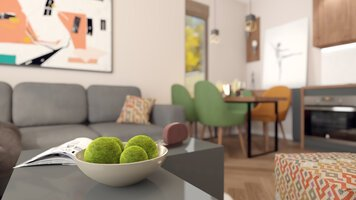 Online design Modern Combined Living/Dining by Mihajlo S. thumbnail