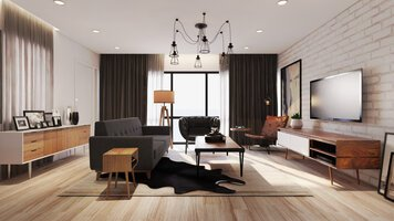 Online design Eclectic Living Room by Aida A. thumbnail