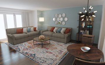 Online design Traditional Living Room by Neerja L. thumbnail