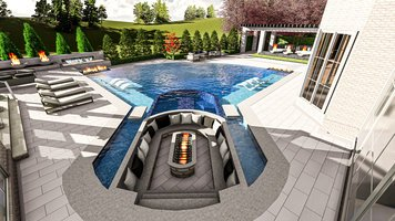Online design Contemporary Patio by Ana I. thumbnail
