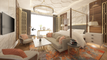 Online design Glamorous Bedroom by Atif N. thumbnail