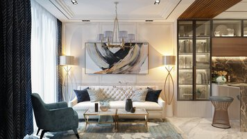 Online design Contemporary Combined Living/Dining by Everlyn Z. thumbnail