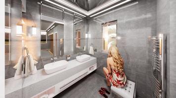 Online design Modern Bathroom by Fereshteh H. thumbnail