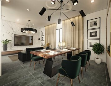 Online design Modern Combined Living/Dining by Aida A. thumbnail