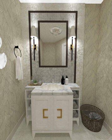 Online design Transitional Bathroom by Jatnna M. thumbnail