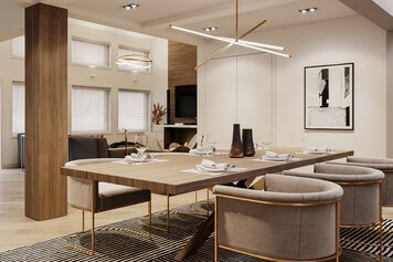 Online design Contemporary Combined Living/Dining by Mladen C thumbnail