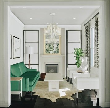 Online design Eclectic Living Room by Krystyna A. thumbnail