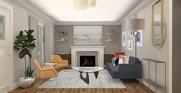 Online design Contemporary Combined Living/Dining by Ani K. thumbnail