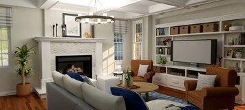 Online design Transitional Living Room by Keerthana V. thumbnail