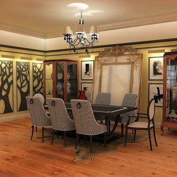 Online design Transitional Dining Room by Ahmed E. thumbnail