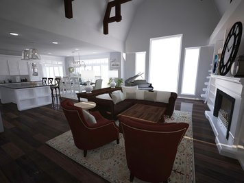 Online design Transitional Combined Living/Dining by Dominika Z. thumbnail