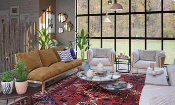 Online design Transitional Living Room by Nada M. thumbnail