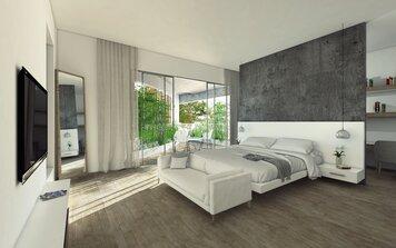 Online design Modern Bedroom by Pratiksha K. thumbnail