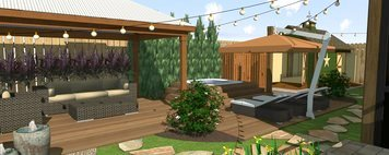 Online design Transitional Patio by Ana I. thumbnail