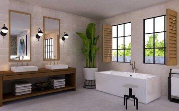 Online design Beach Bathroom by Drew F. thumbnail