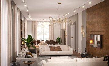 Online design Contemporary Living Room by Saltanat B. thumbnail