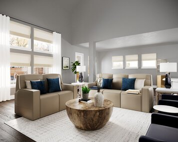 Online design Transitional Combined Living/Dining by Casey H. thumbnail