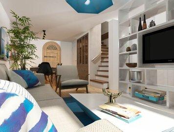 Online design Beach Living Room by Natasa P. thumbnail