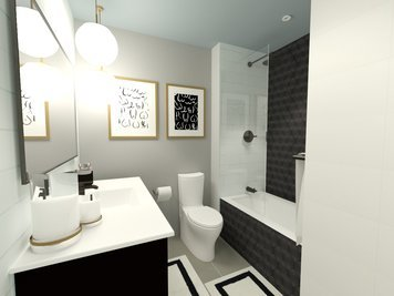 Online design Modern Bathroom by MayKan C. thumbnail