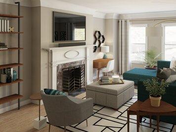 Online design Glamorous Living Room by Lynda N thumbnail