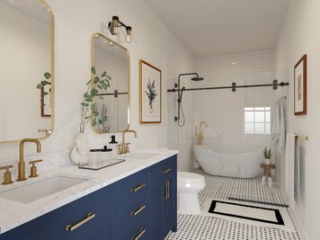 Online design Transitional Bathroom by Casey H. thumbnail