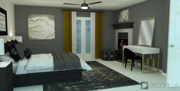 Online design Glamorous Bedroom by Amber K. thumbnail
