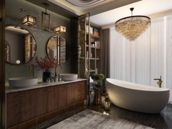 Online design Contemporary Bathroom by Atif N. thumbnail