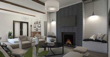 Online design Transitional Living Room by Dale C. thumbnail