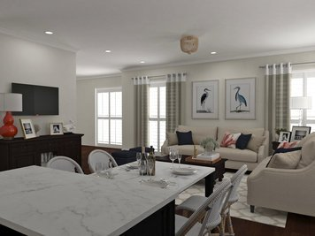 Online design Transitional Combined Living/Dining by Dragana V. thumbnail