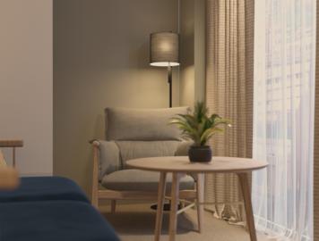 Online design Modern Living Room by Nileta K. thumbnail