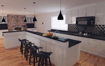 Online design Contemporary Combined Living/Dining by Elisabetta R. thumbnail
