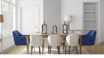 Online design Glamorous Dining Room by Ebere O. thumbnail