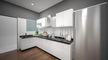 Online design Country/Cottage Kitchen by FatehahCheMat thumbnail