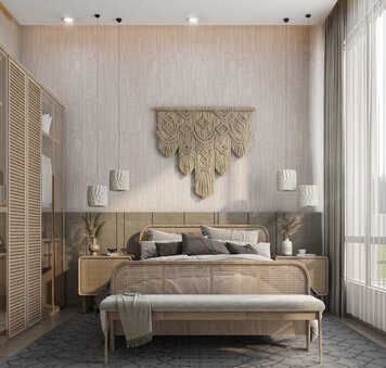 Online design Country/Cottage Bedroom by Zahra M. thumbnail