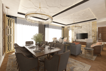 Online design Glamorous Combined Living/Dining by Atif N. thumbnail
