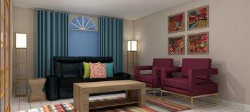 Online design Eclectic Living Room by Lauren Z. thumbnail