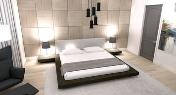 Online design Modern Bedroom by Laura A. thumbnail
