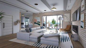 Online design Modern Living Room by Kristin W. thumbnail