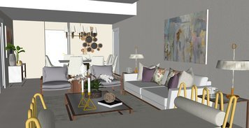 Online design Contemporary Combined Living/Dining by Jatnna M. thumbnail