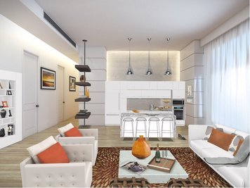 Online design Modern Combined Living/Dining by Susan V. thumbnail