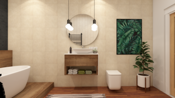 Online design Contemporary Bathroom by Laura S. thumbnail